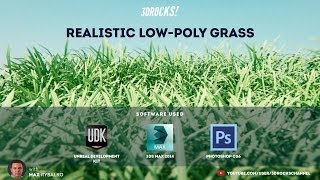 Creating a realistic low-poly grass in 3ds max and UDK tutorial