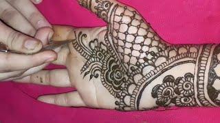 Stylish Full Hand Mehndi Design For Eid   Thought Of Creation