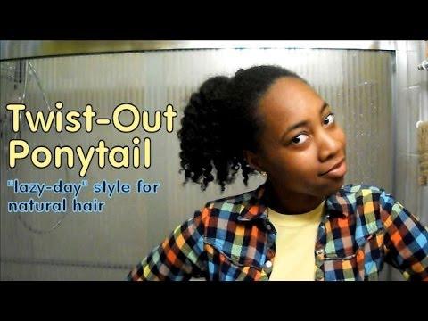 Ponytail Twist Twist Out Ponytail Lazy Day