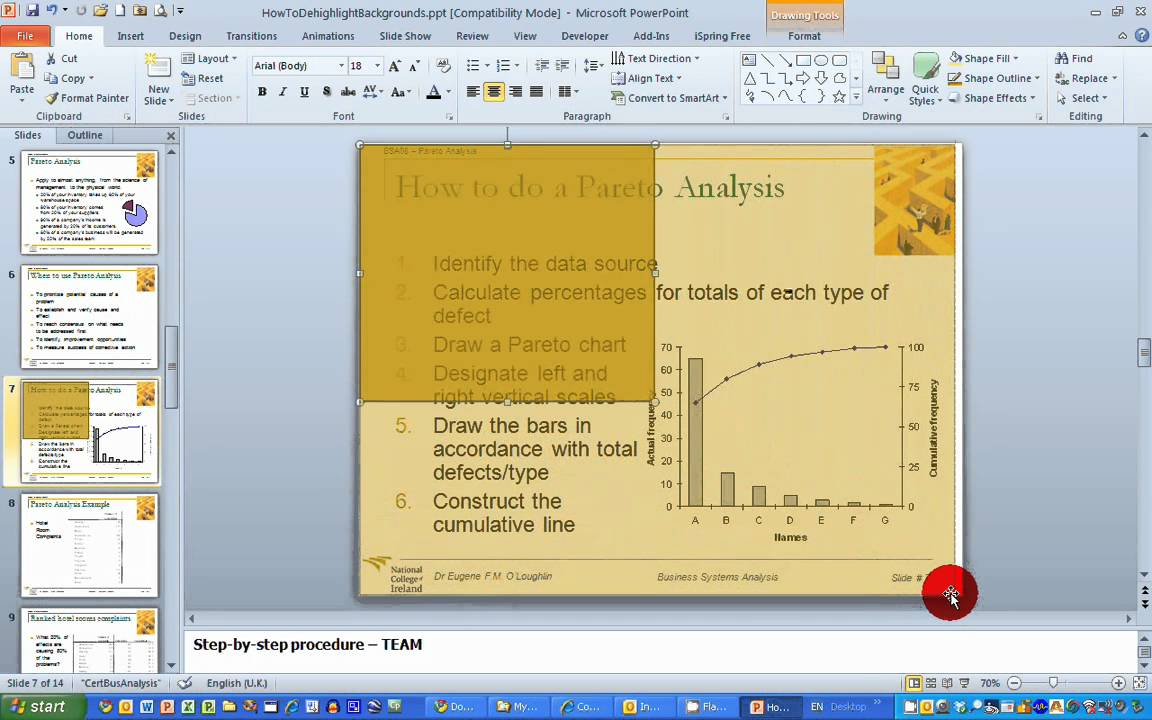 how to change slide background in powerpoint 2010