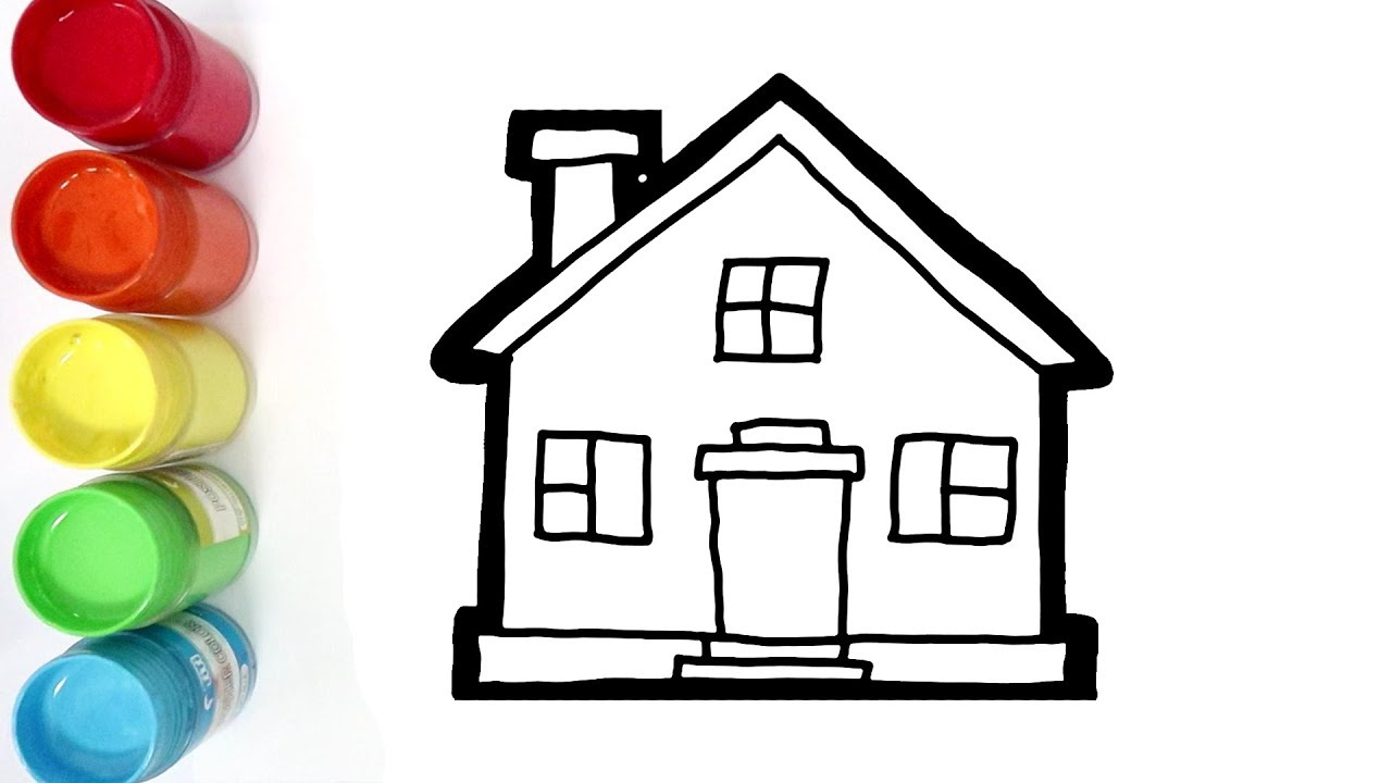 Cara Menggambar Dan Mewarnai Rumah Sederhana Dengan Mudah