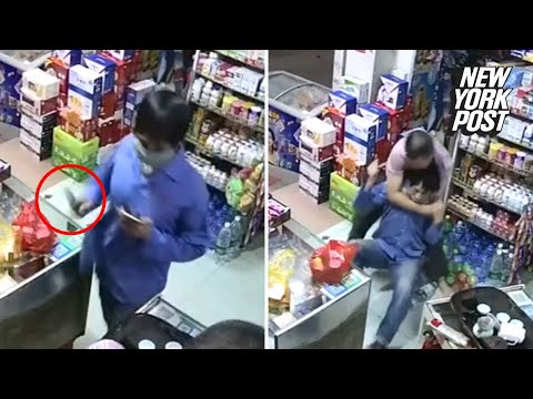 Don Action Jackson - Store Owner Opens A Huge Can Of Whoop-A#% On A Potential Robber