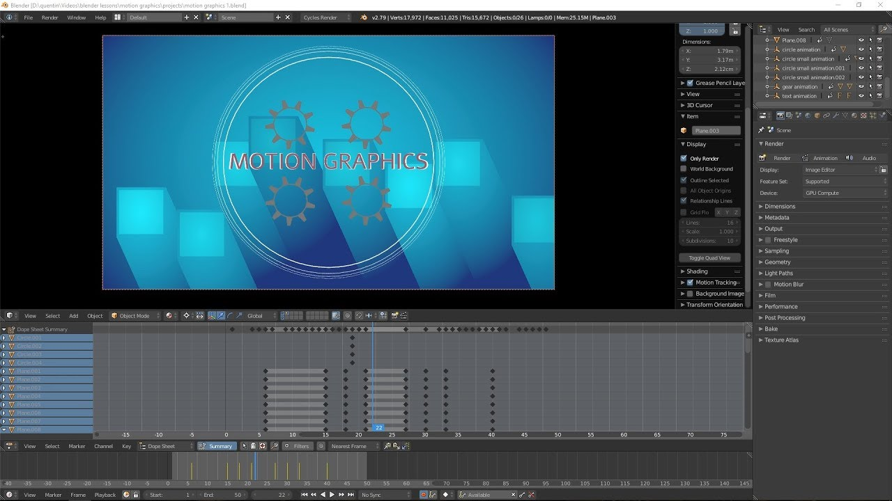 Creating Motion Graphics - in Blender