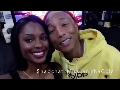 """Pharrell and Lanisha Cole reunite at """"The Voice"""" 13yrs after 'Frontin' video"""
