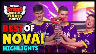 BEST of NOVA Esports | Brawl Stars World Finals Highlights - Part 1