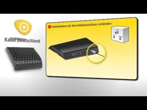 Selbstinstallation Internet  Telefon Kabel Deutschland Vodafone