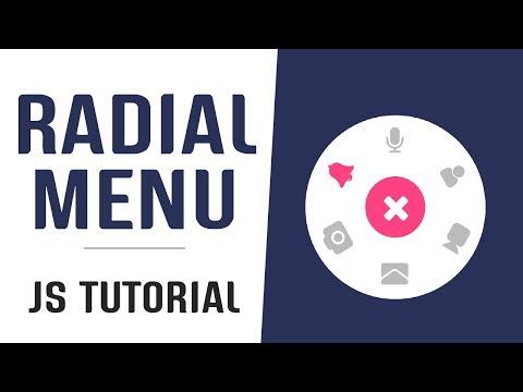Interactive Radial Menu With Javascript | Javascript Menu