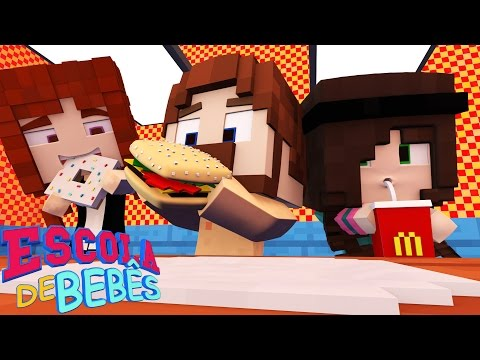 Minecraft : ESCOLA DE BEBÊS ( Baby School Daycare) - ALMOÇO NO MCDONALD'S !!