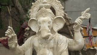 Ganesha idol making in New Delhi