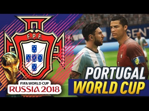 MESSI VS RONALDO AT THE WORLD CUP!!! FIFA 18 PORTUGAL WORLD CUP CAREER MODE #2