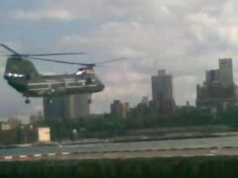 Wall street heliport military exercise landing