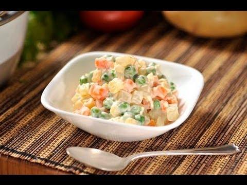 Ensalada rusa de verduras - Russian Vegetable Salad