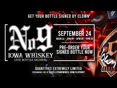 Slipknot Whiskey Bottle Signing