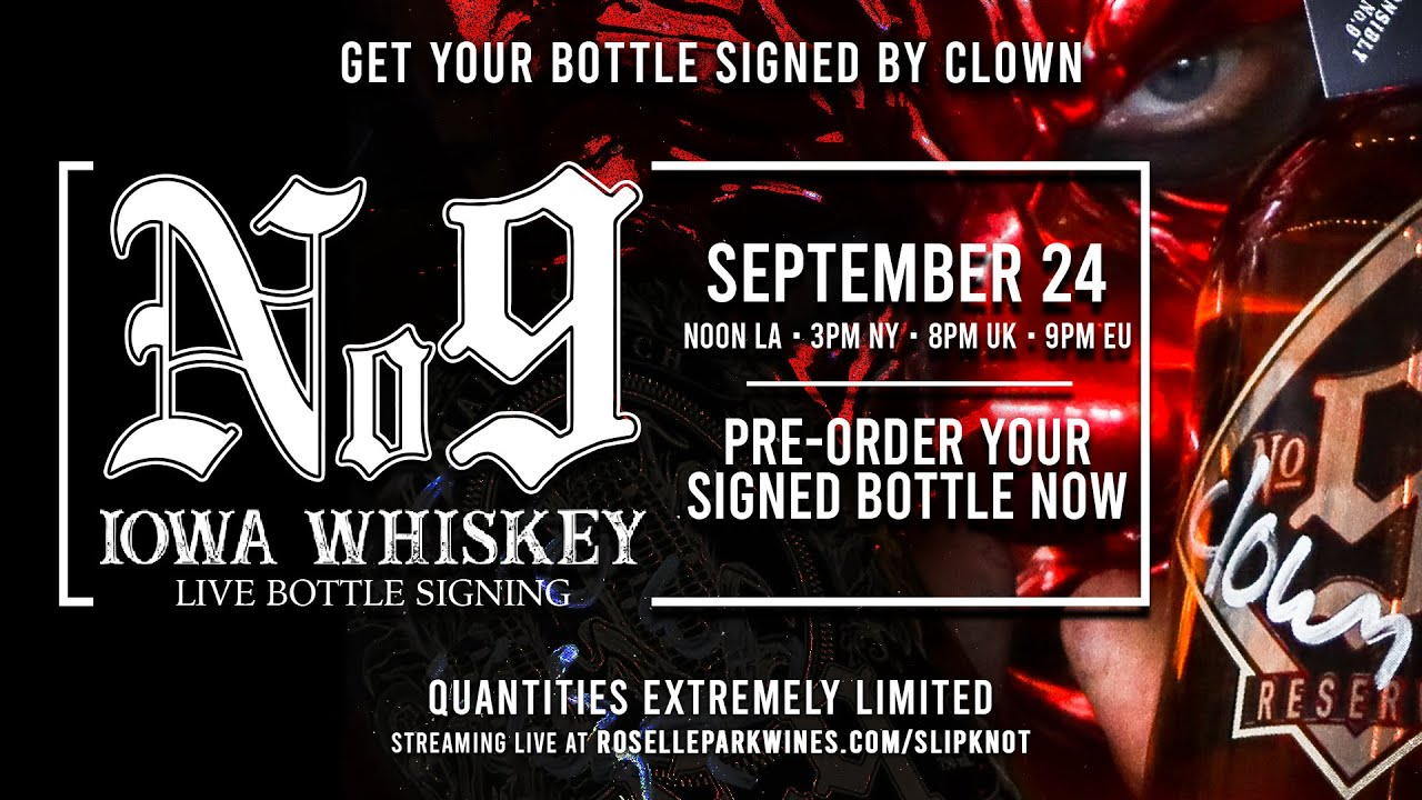 Slipknot Whiskey Bottle Signing