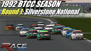 RACE 07 Gameplay (PC) - 1992 BTCC | Rd. 1 - Silverstone National