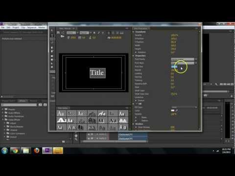 Adobe Premiere CS6 - How to Create Text Titles Tutorial