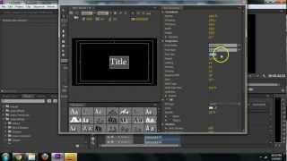 Adobe Premiere CS6 - so Erstellen Sie Text-Titel-Tutorial