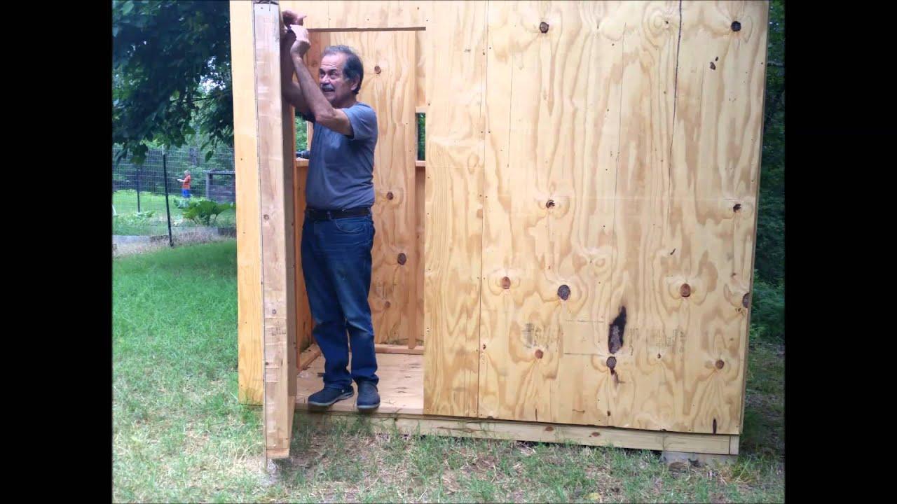 Grandchildrenu0027s Playhouse 2014, Part 6 Installing The Door