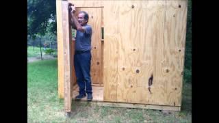 Grandchildren's Playhouse 2014, Part 6 Installing The Door