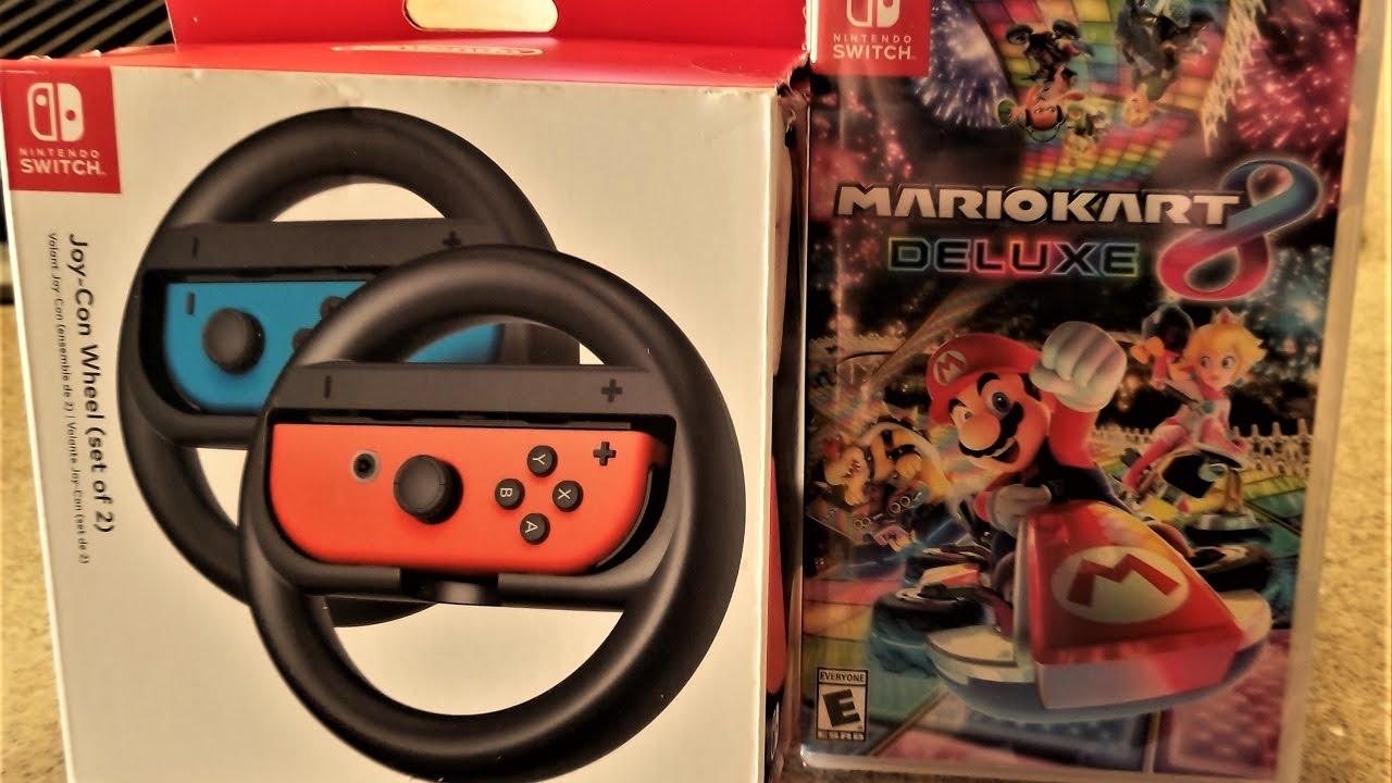 Episode 1 446 Unboxing Video Mario Kart 8 Deluxe And Joy Con Wheel Nintendo Switch