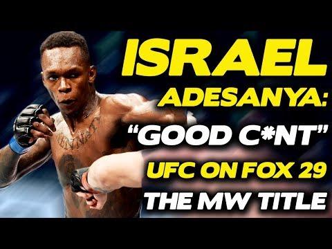 "Israel Adesanya Predicts ""Starching"" of Martin Vettori at UFC on FOX 29, Talks Good C*nt Shirts!"