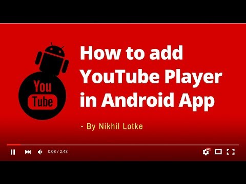 How To Add YouTube Player In Android App - YouTube Player API