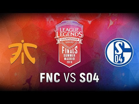 FNC vs. S04 - Finals Game 1 | EU LCS Summer Finals | Fnatic vs. FC Schalke 04 (2018)