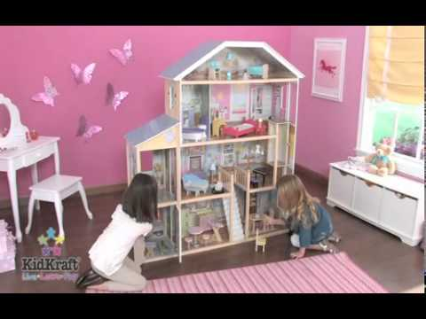 Kidkraft Majestic Mansion Play Dollhouse Youtube
