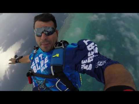 Skydiving into the Great Blue Hole in Belize