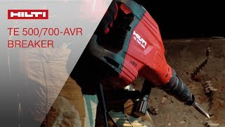 INTRODUCING the Hilti TE 500-AVR & TE 700-AVR demolition hammers