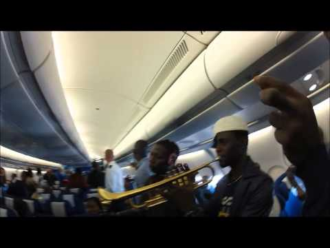 Femi Kuti and the Positive Force LIVE on a KLM Flight at 38000ft above Africa!