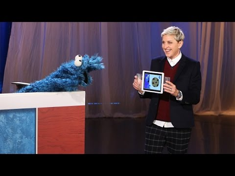 Ellen Plays 'Heads Up!' Pictures with Cookie Monster