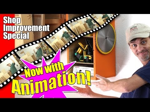 Woodworking shop improvements, situation solutions, and stop-motion animation too!