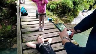 Река Агва, Сочи. Разговор с туристами.