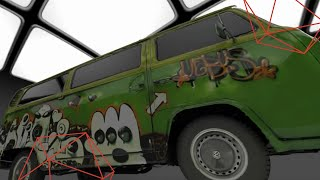 Scanning a VW  bus with Artec 3D Scanner