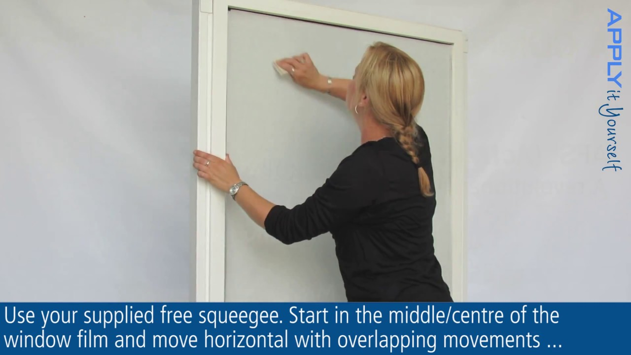 How to apply frosted window film (bubble free)? APPLY it Yourself
