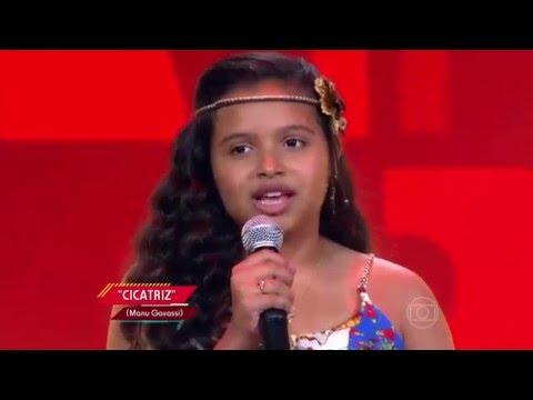Júlia Ferreira canta 'Cicatriz' no The Voice Kids - Audições|1ª Temporada