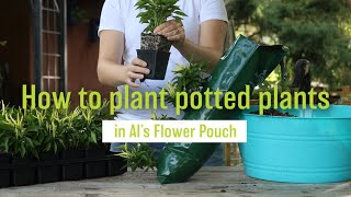 How to Plant Potted Plants in Al's Flower Pouch