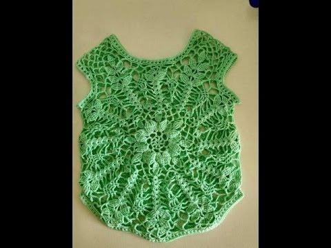 [ Crochet baby sweater] HƯỚNG DẪN MÓC ÁO LEN CHO BÉ: KIỂU 2