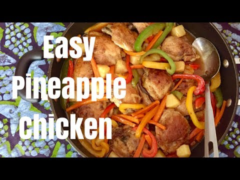 Easy Caribbean Pineapple Chicken