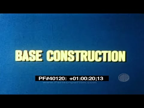 SEABEES IN THE ANTARCTIC (1959) - Base Construction 40120