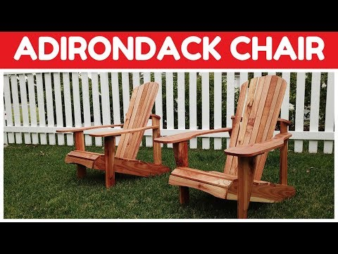 Build Your Own Adirondack Chair - Chair Plans and DIY Building Instructions  - How To Woodworking