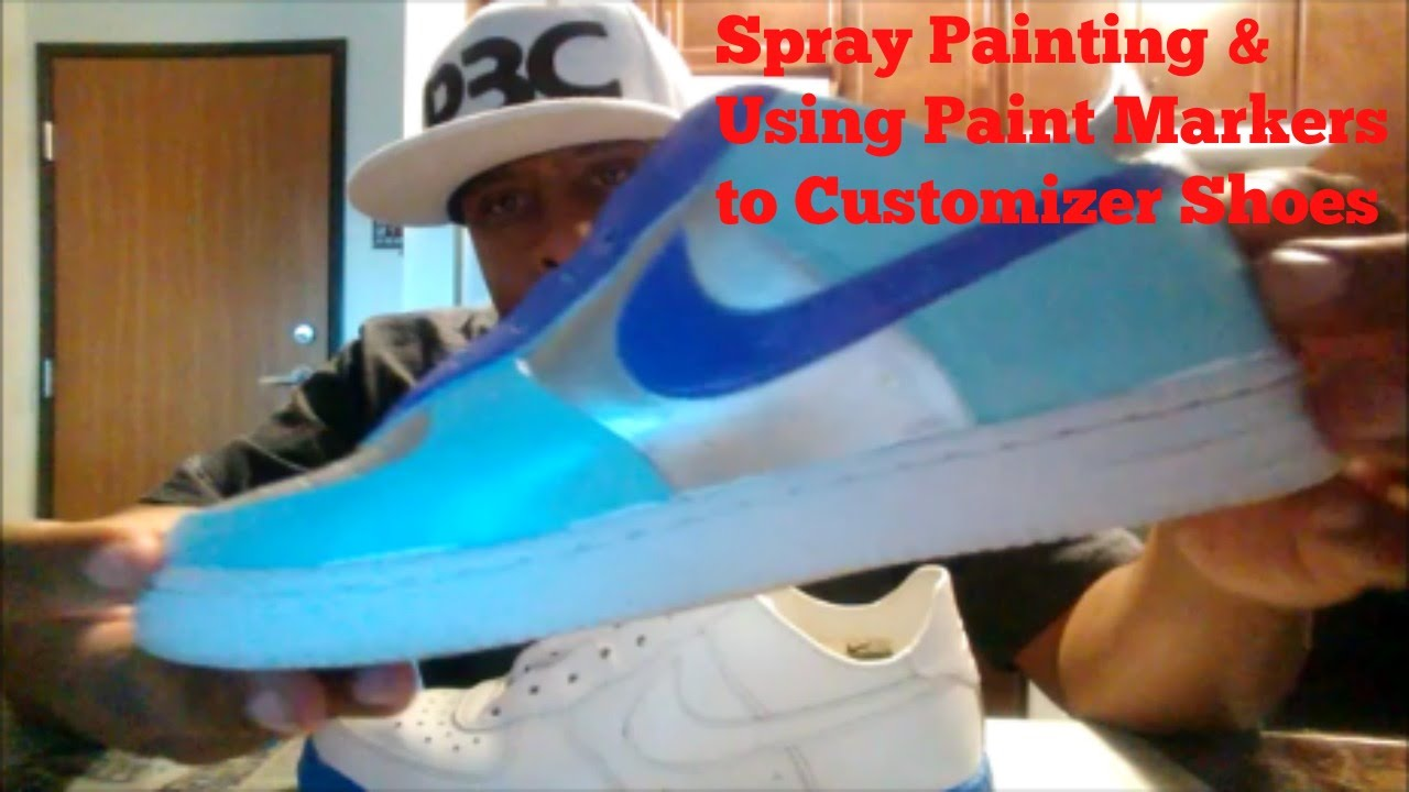 011c0e9bcf How to Paint and Customize your shoe with spray paint and using paint  markers