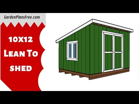 10×12 Lean to Shed   Free DIY Plans