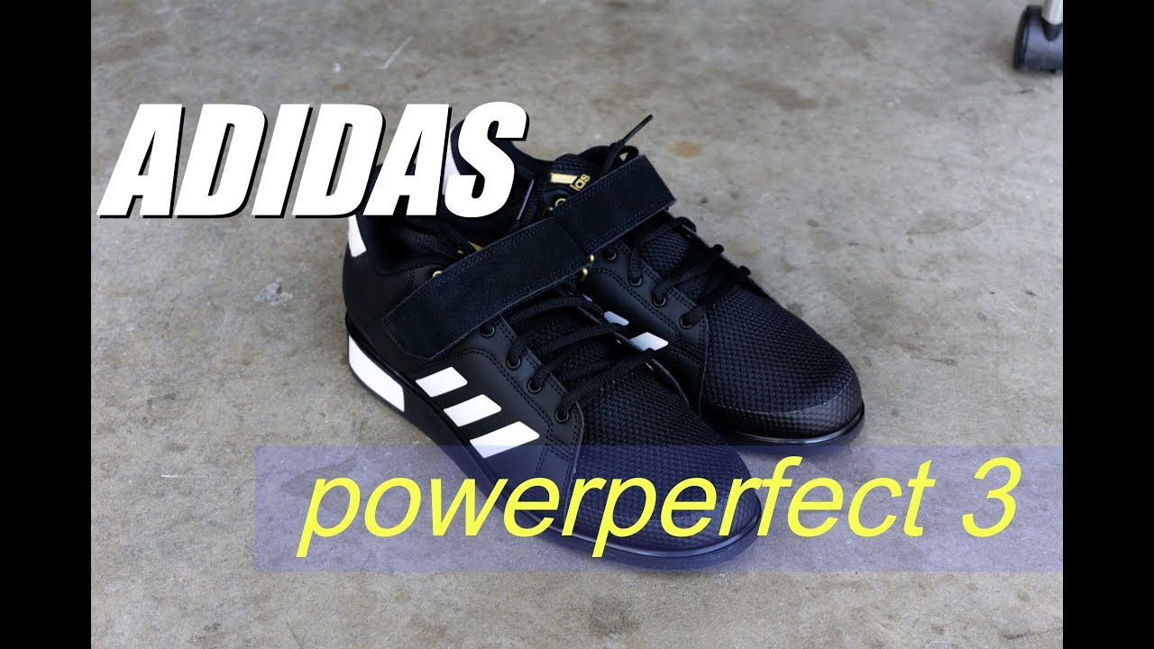 a4b54d0bb121 Adidas Power Perfect 3 Weightlifting Shoe Review - YouTube