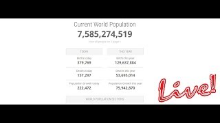 Population Counter Live