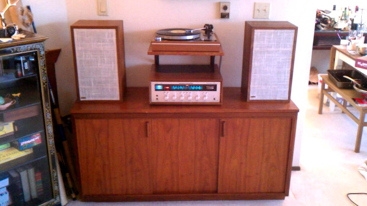 Vintage Stereo Now with turntable shelf  YouTube