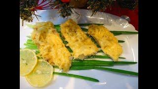 Рыба, запеченная с ананасом и сыром