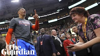 Russell Westbrook says 'racial' comment sparked courtside row at NBA game
