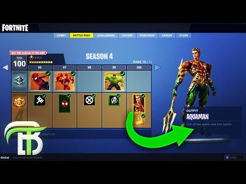 *LEAKED* FORTNITE SEASON 4 SKINS - AQUAMAN OR VILLAIN? (Fortnite Season 4)